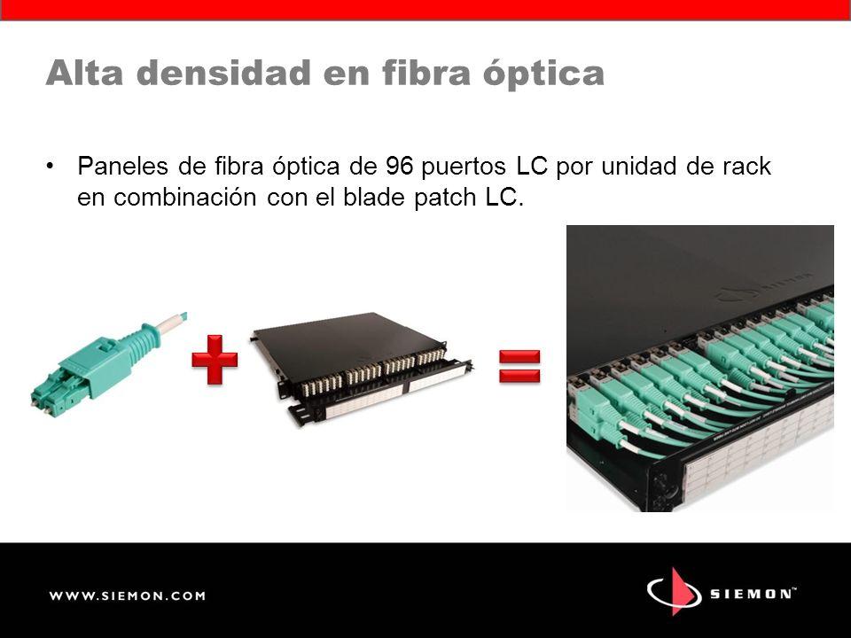 Alta densidad en fibra óptica