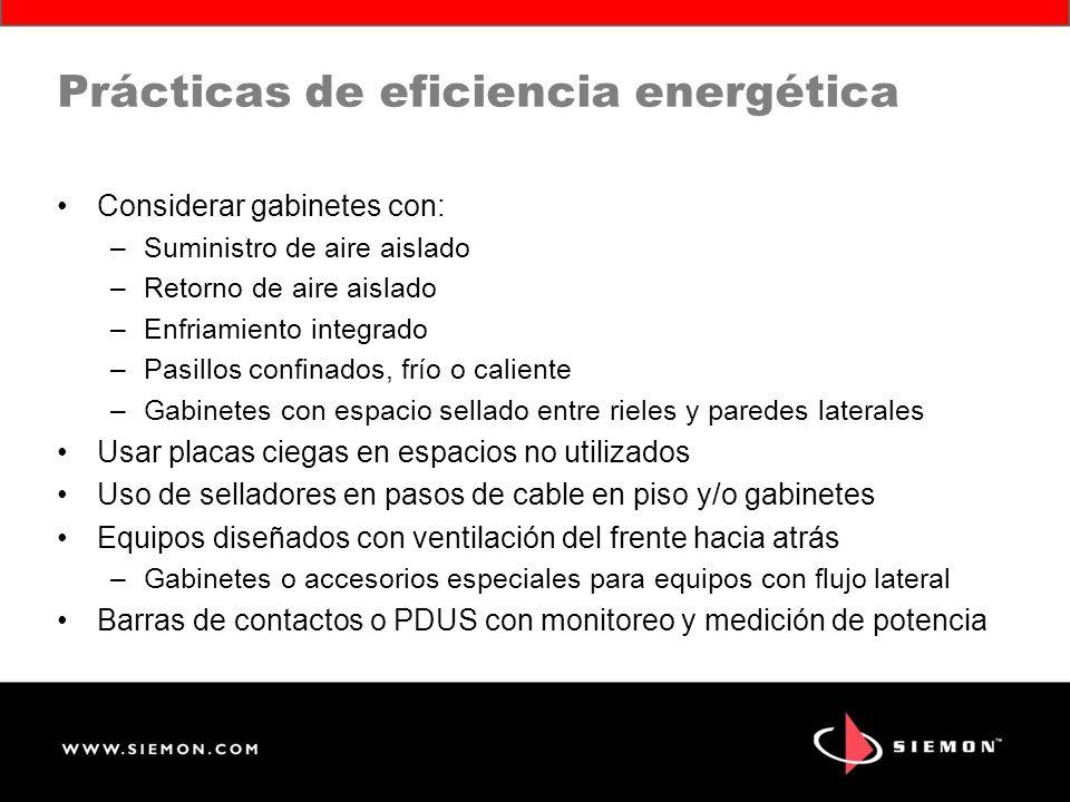 Prácticas de eficiencia energética
