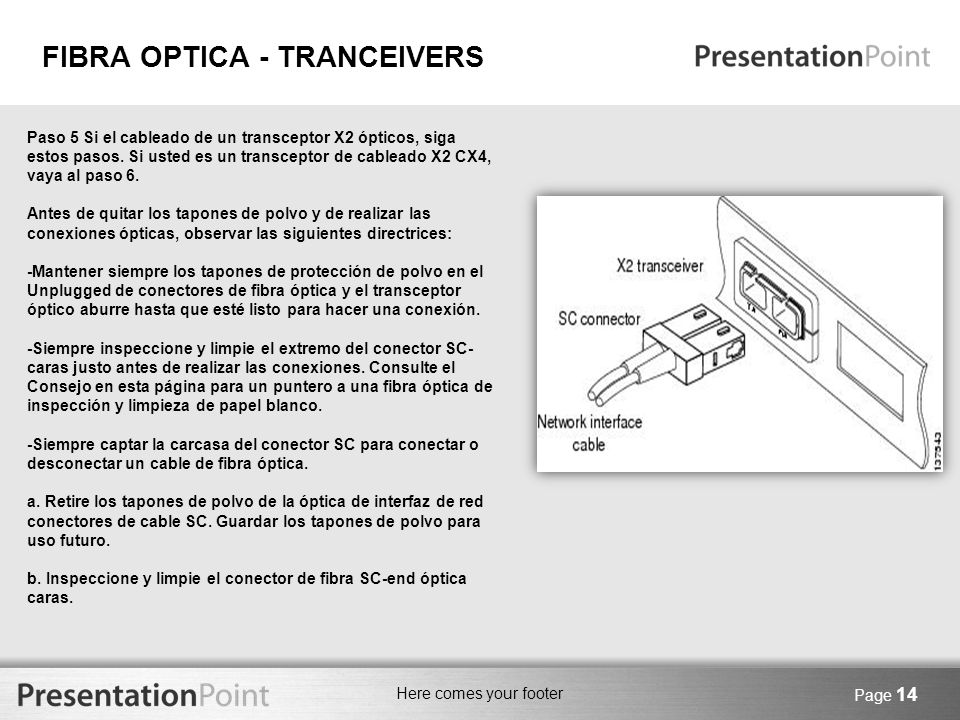 FIBRA OPTICA - TRANCEIVERS