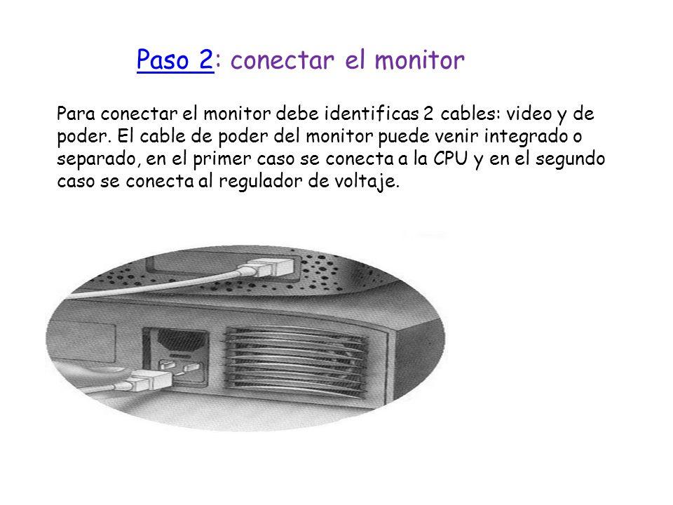 Paso 2: conectar el monitor
