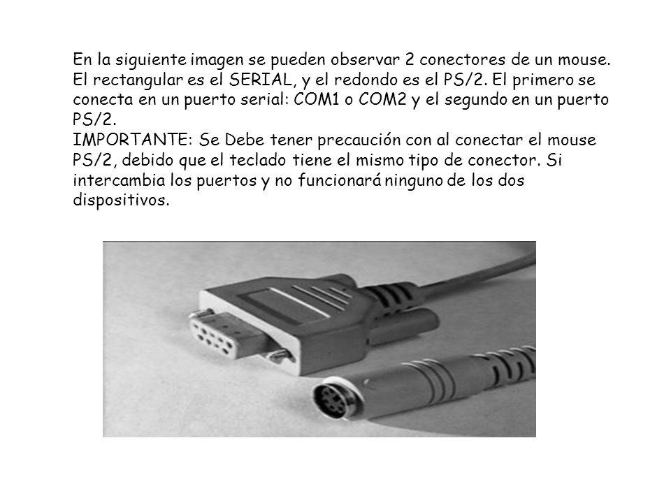 En la siguiente imagen se pueden observar 2 conectores de un mouse