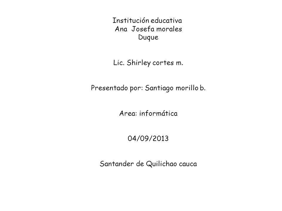 Institución educativa Ana Josefa morales Duque