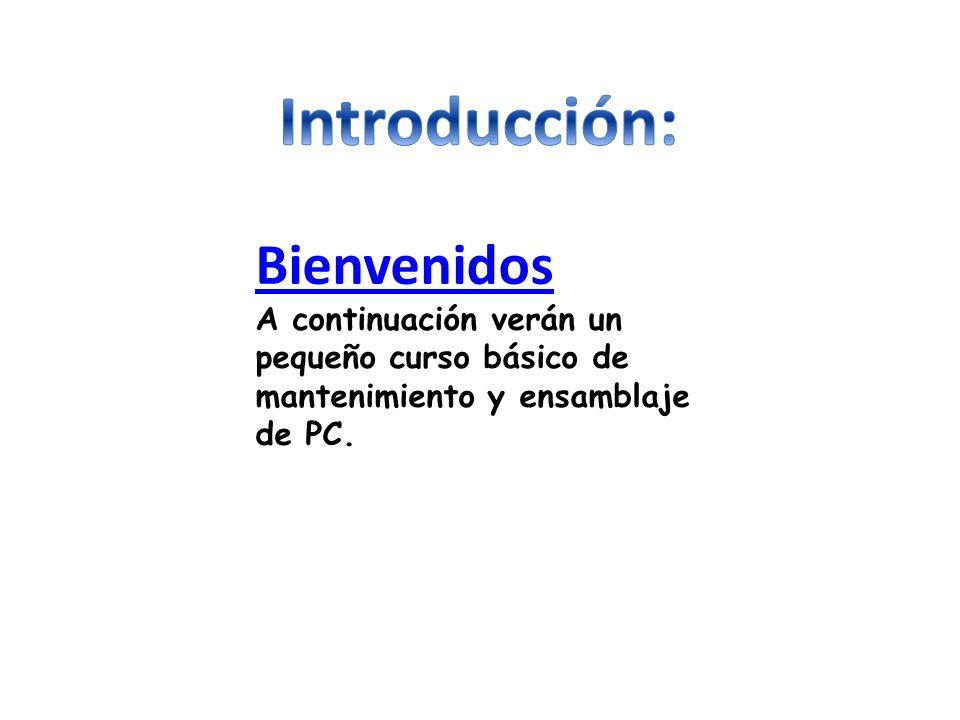 Introducción: Bienvenidos