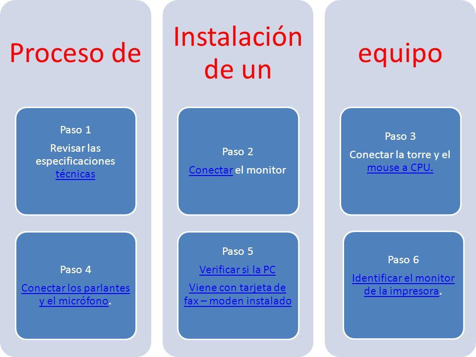 Revisar las especificaciones técnicas Paso 1