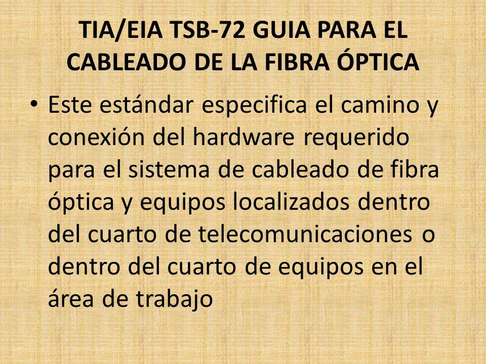TIA/EIA TSB-72 GUIA PARA EL CABLEADO DE LA FIBRA ÓPTICA