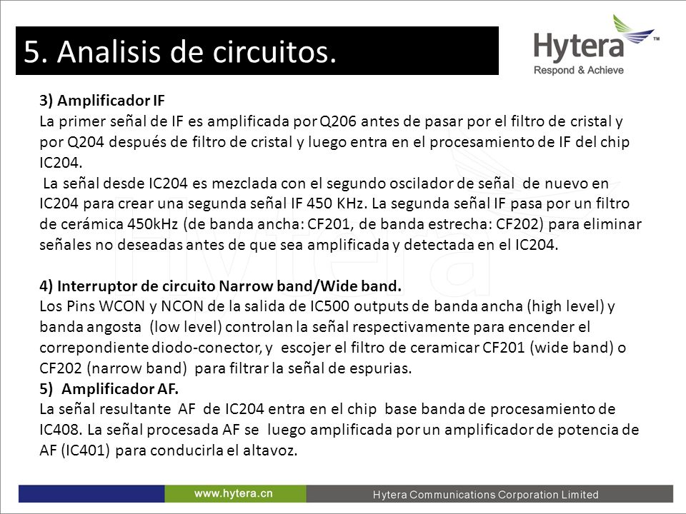 5. Analisis de circuitos. 3) Amplificador IF