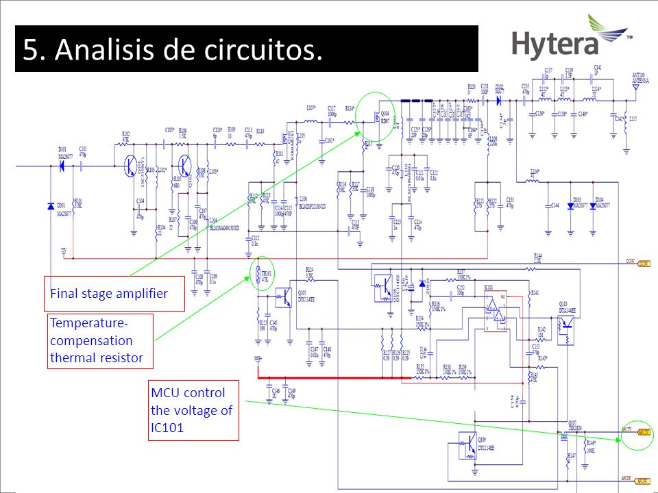 5. Analisis de circuitos. Final stage amplifier