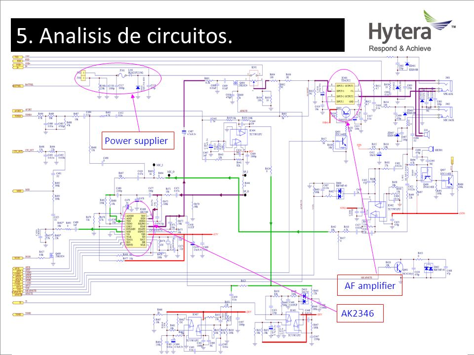 5. Analisis de circuitos. AK2346 AF amplifier Power supplier