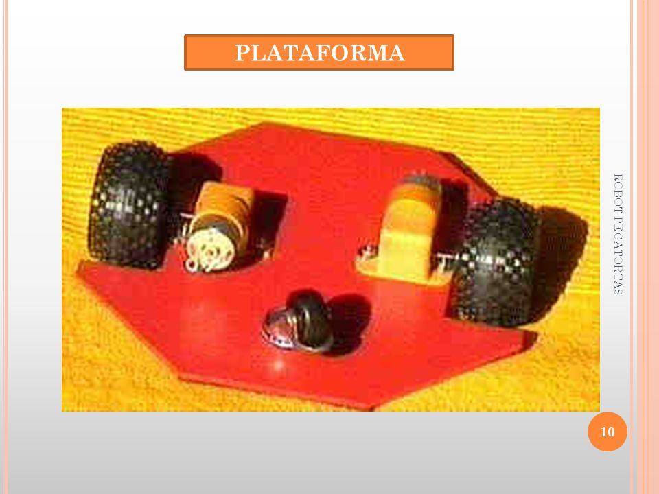 PLATAFORMA ROBOT PEGATORTAS
