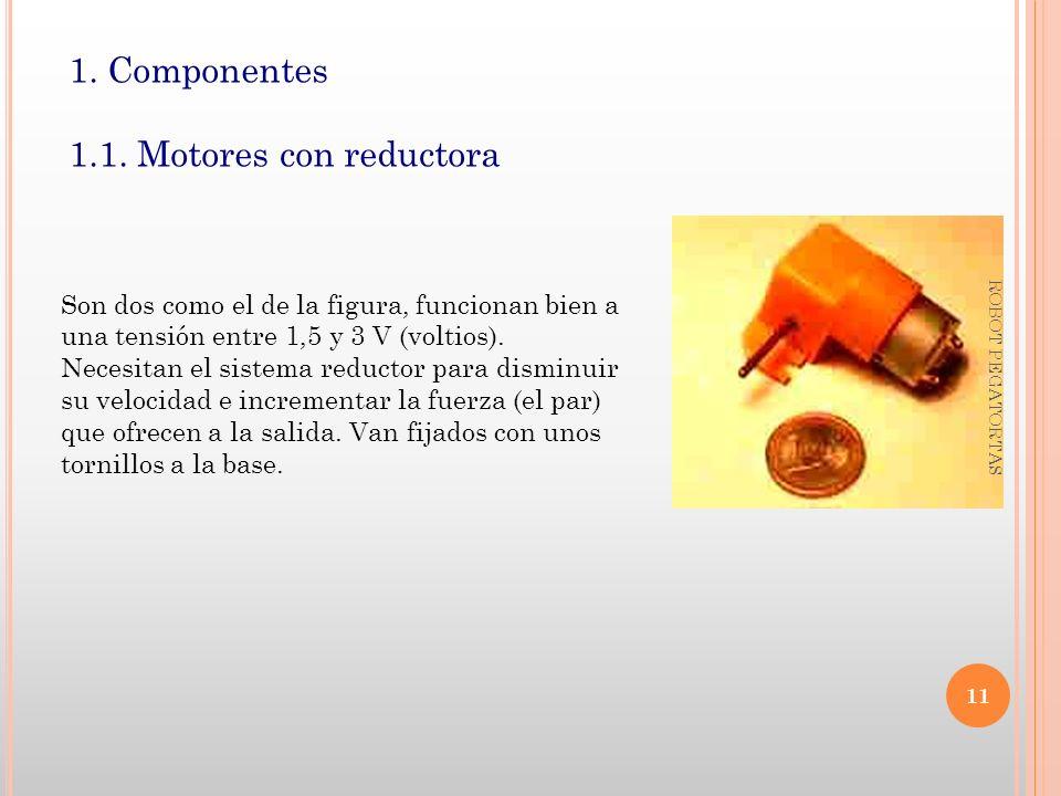1. Componentes 1.1. Motores con reductora