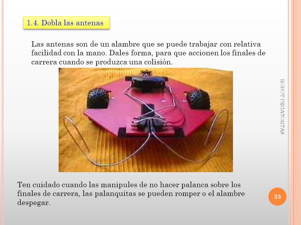 1.4. Dobla las antenas