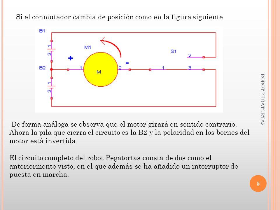 Si el conmutador cambia de posición como en la figura siguiente