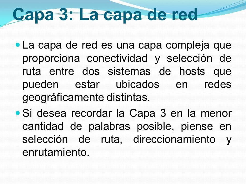 Capa 3: La capa de red