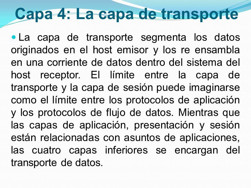 Capa 4: La capa de transporte