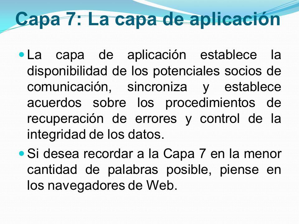 Capa 7: La capa de aplicación