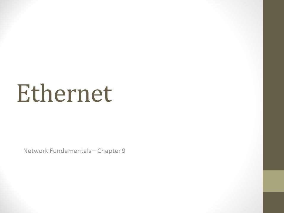 Network Fundamentals – Chapter 9