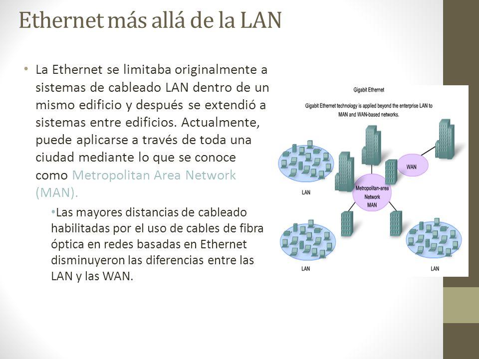 Ethernet más allá de la LAN