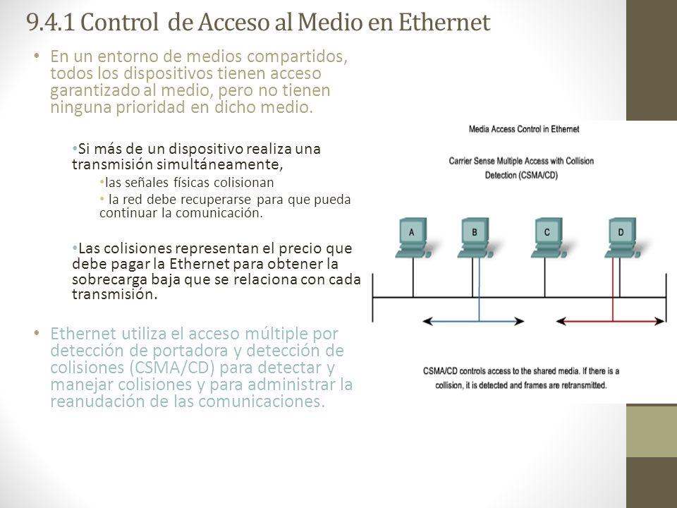 9.4.1 Control de Acceso al Medio en Ethernet