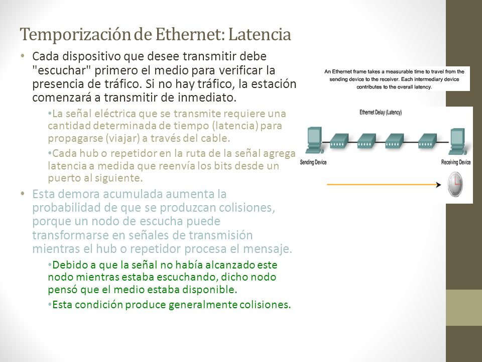 Temporización de Ethernet: Latencia