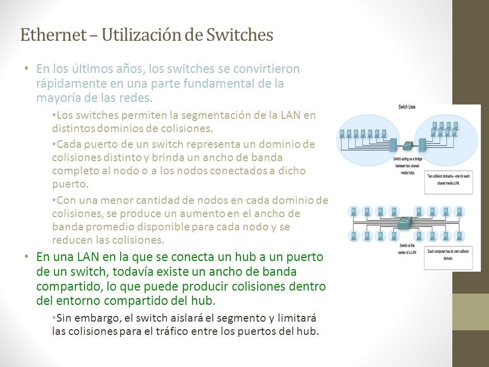 Ethernet – Utilización de Switches
