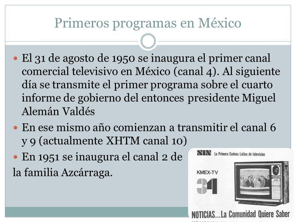Primeros programas en México