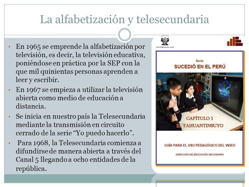 La alfabetización y telesecundaria