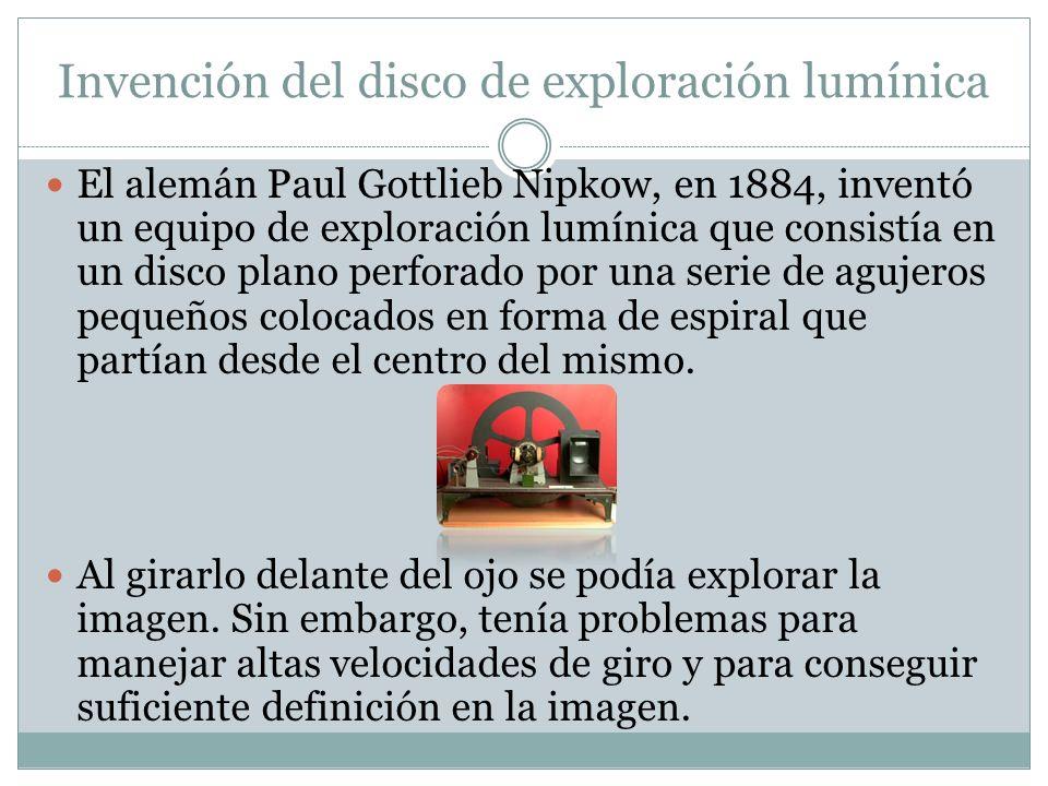 Invención del disco de exploración lumínica