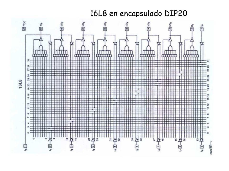 16L8 en encapsulado DIP20