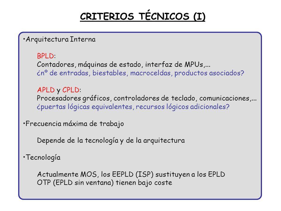 CRITERIOS TÉCNICOS (I)