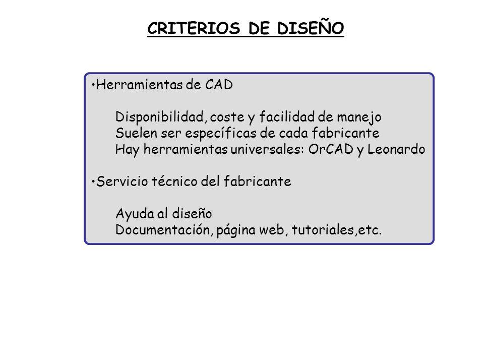 CRITERIOS DE DISEÑO Herramientas de CAD