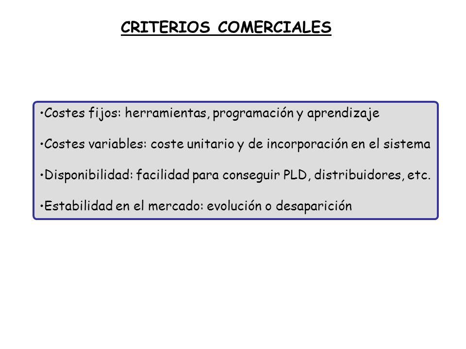 CRITERIOS COMERCIALES
