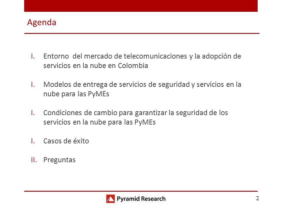 Agenda Entorno del mercado de telecomunicaciones y la adopción de servicios en la nube en Colombia.