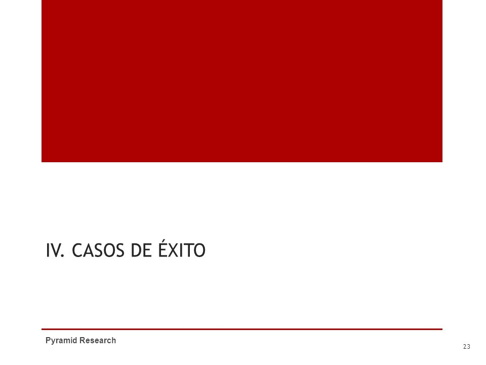IV. Casos de Éxito Pyramid Research