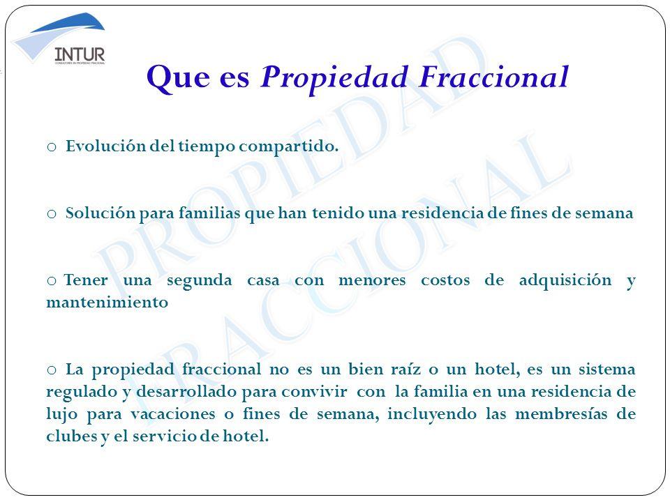 Que es Propiedad Fraccional