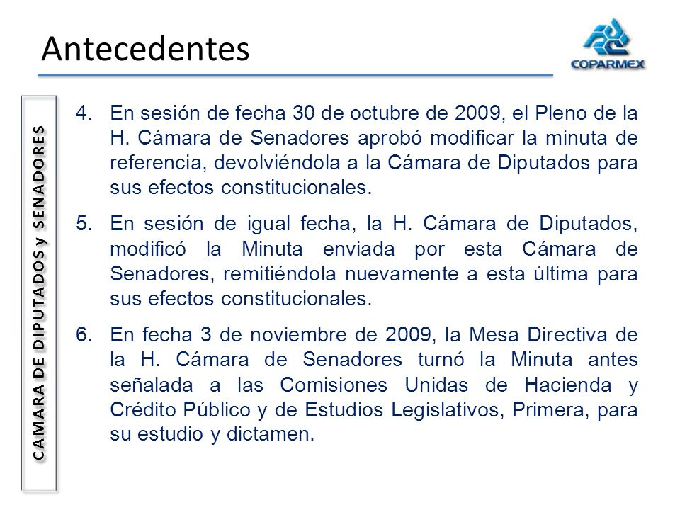 CAMARA DE DIPUTADOS y SENADORES