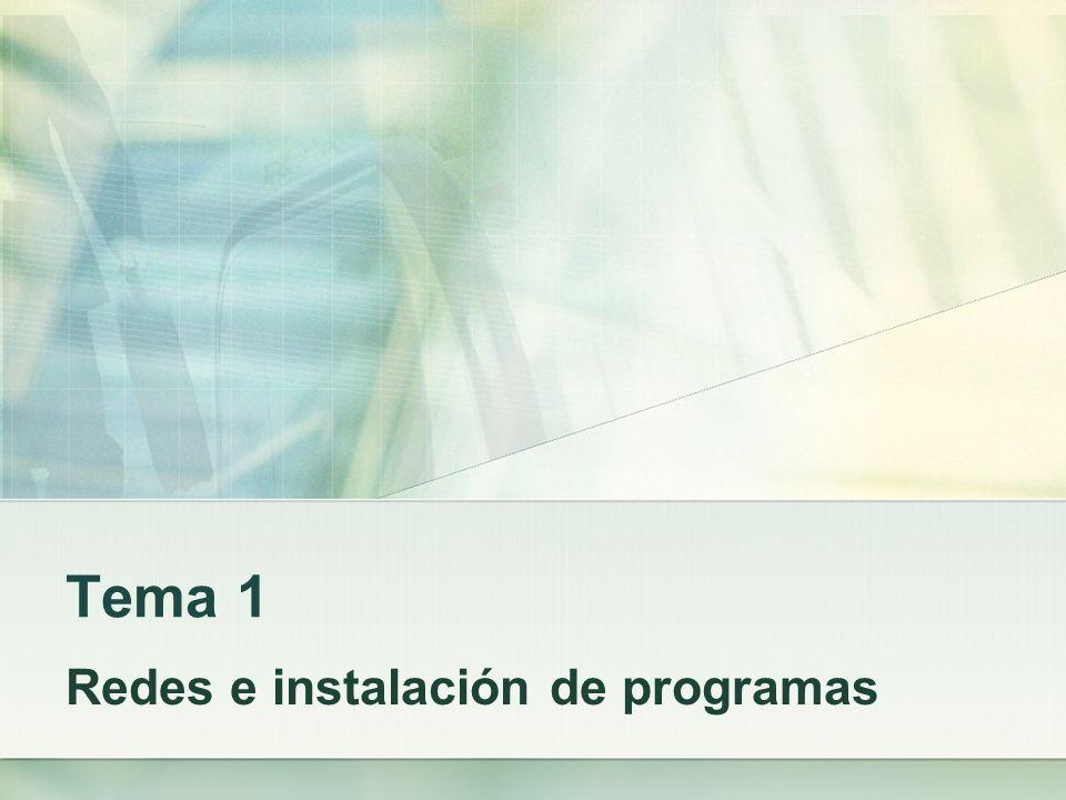 Redes e instalación de programas