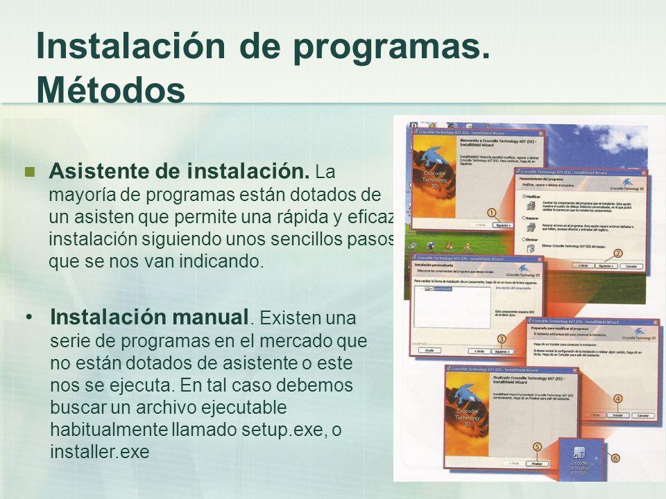 Instalación de programas. Métodos