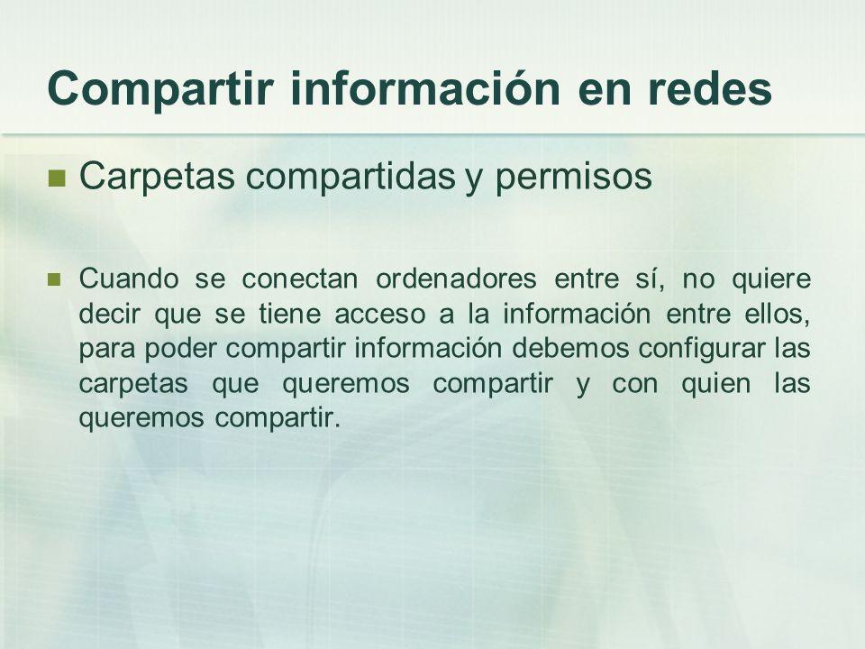 Compartir información en redes