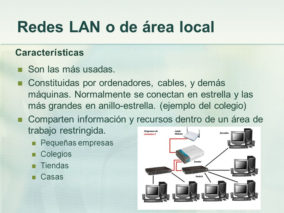 Redes LAN o de área local