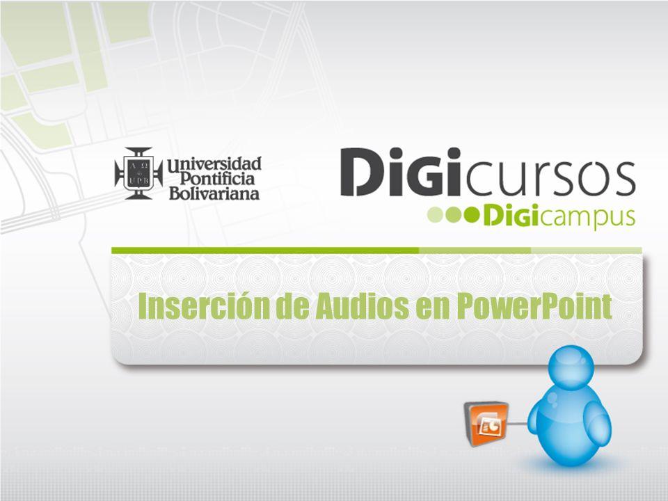 Inserción de Audios en PowerPoint