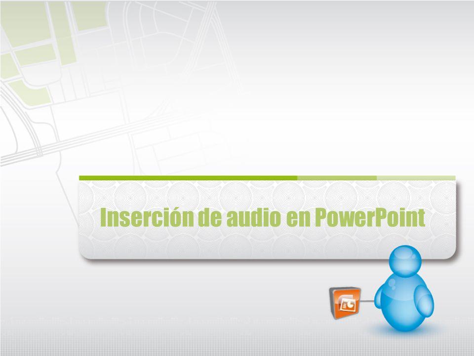 Inserción de audio en PowerPoint
