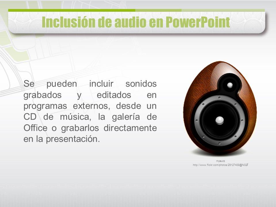 Inclusión de audio en PowerPoint