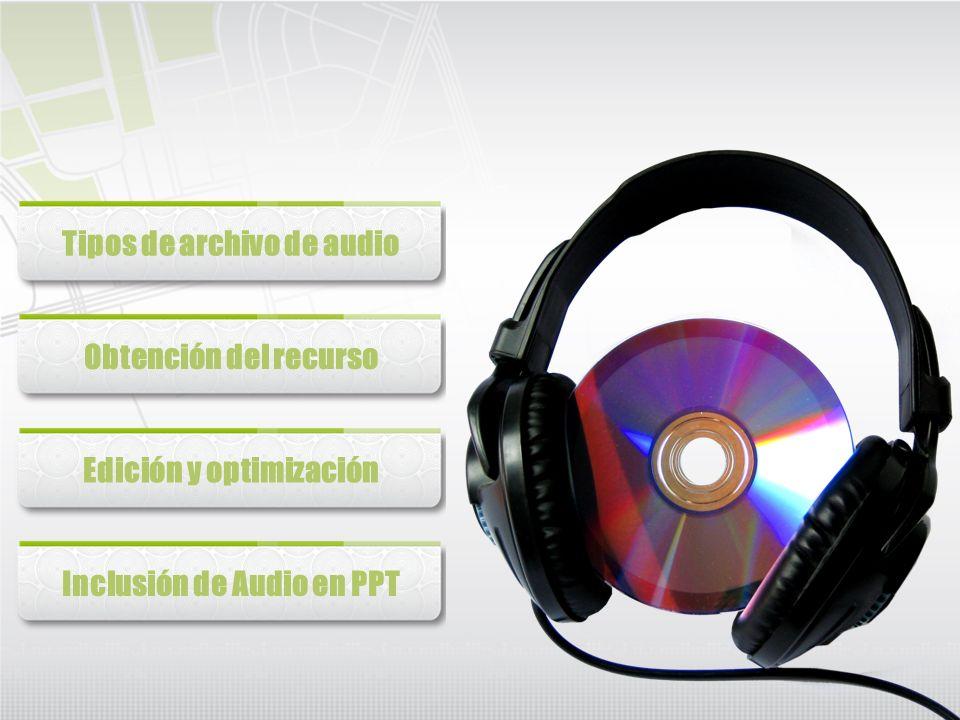 Tipos de archivo de audio
