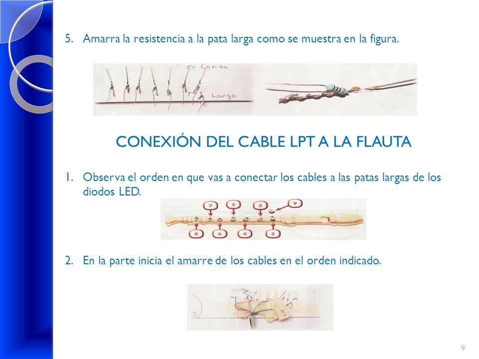 CONEXIÓN DEL CABLE LPT A LA FLAUTA