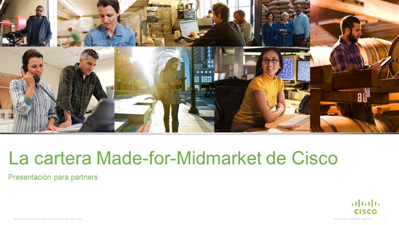 La cartera Made-for-Midmarket de Cisco