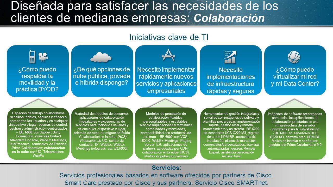 Diseñada para satisfacer las necesidades de los clientes de medianas empresas: Colaboración