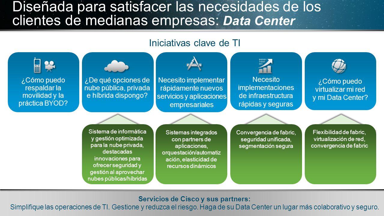 Diseñada para satisfacer las necesidades de los clientes de medianas empresas: Data Center
