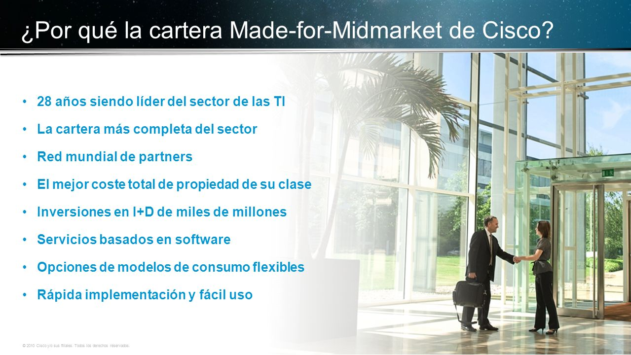 ¿Por qué la cartera Made-for-Midmarket de Cisco