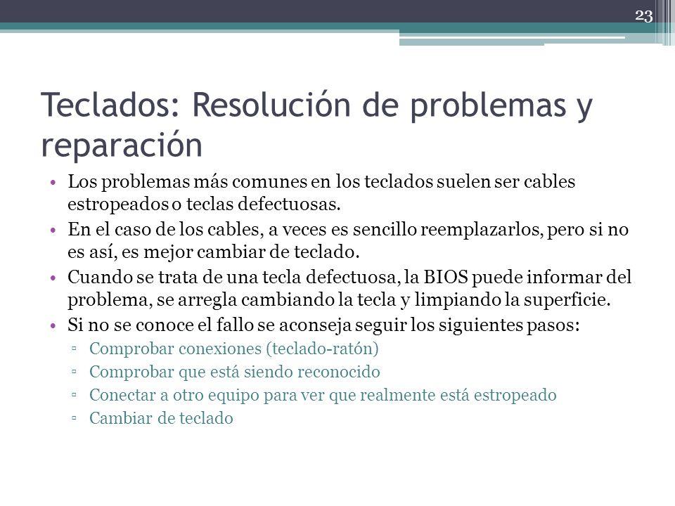 Teclados: Resolución de problemas y reparación