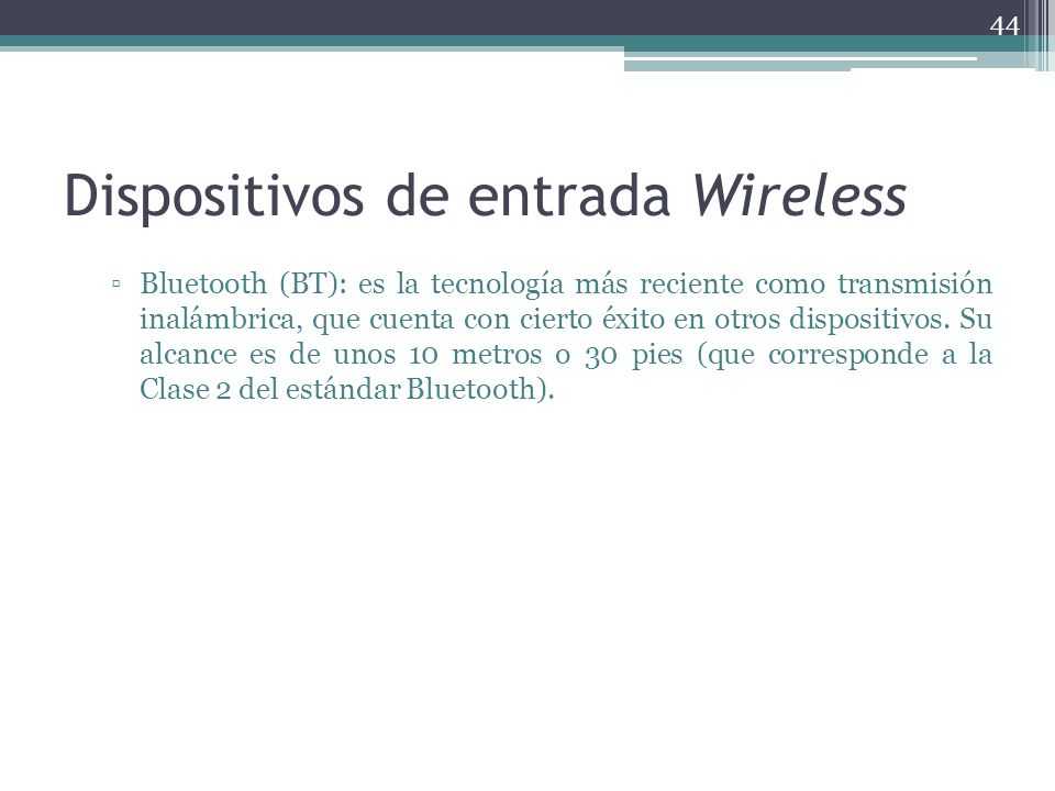 Dispositivos de entrada Wireless